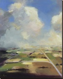 Sky and Land V Stretched Canvas Print by Robert Seguin