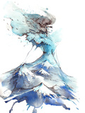 Glamorous Girl Print by  okalinichenko