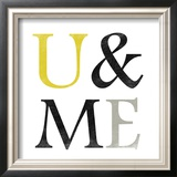 Color Typo U & Me Poster by Sheldon Lewis