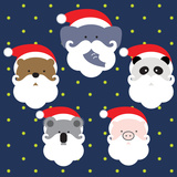 SANTA ANIMAL Prints by  giantapplelim
