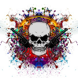 Skull in Color Prints by  reznik_val