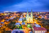 Savannah, Georgia Downtown Skyline at the Cathedral. Photographic Print by  SeanPavonePhoto