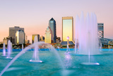 Jacksonville, Florida Fountain Skyline Photographic Print by  SeanPavonePhoto