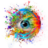 Eye Paint Splash Art by  reznik_val