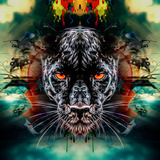 Panther Premium Giclee Print by  reznik_val