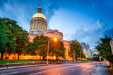 Georgia State Capitol Building in Atlanta, Georgia, Usa. Photographic Print by  SeanPavonePhoto