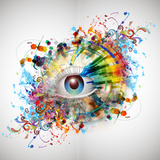 Eye Paint Splash Print by  reznik_val