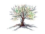 Musical Tree Affiches par  okalinichenko