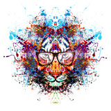 Tiger in Glasses Prints by  reznik_val