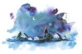 Christmas Night Prints by  okalinichenko