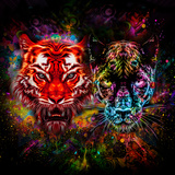 Tiger and Panter Posters by  reznik_val