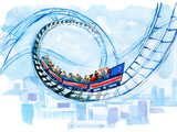 Rollercoaster Prints by  okalinichenko