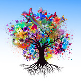 Tree Premium Giclee Print by  reznik_val