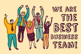 Best Business Team Happy Workers Color Art by  Karrr
