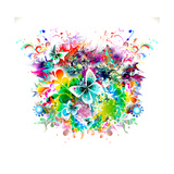 Butterfly Multicolor Poster by  reznik_val