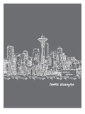 Skyline Seattle 1 Prints by Brooke Witt
