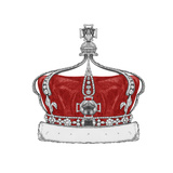 Original Drawing of Crown. Isolated on White Background Art by  victoria_novak