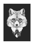 Portrait of Fox in Suit. Hand Drawn Illustration. Art by  victoria_novak