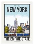 Travel Poster New York City Posters af Brooke Witt