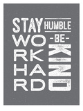 Type Humble and Kind Prints by Brooke Witt