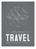 Type When in Doubt Travel Láminas por Brooke Witt