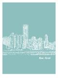 Skyline Miami 5 Prints by Brooke Witt
