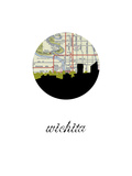 Wichita Map Skyline Prints