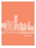 Skyline Miami 8 Prints by Brooke Witt