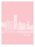 Skyline Miami 9 Posters by Brooke Witt