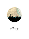 Albany Map Skyline Prints