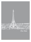 Skyline Paris 2 Plakater af Brooke Witt