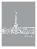 Skyline Paris 2 Prints by Brooke Witt