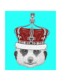 Portrait of Mongoose with Crown. Hand Drawn Illustration. Art by  victoria_novak