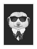 Portrait of Mongoose in Suit. Hand Drawn Illustration. Prints by  victoria_novak