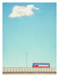 Lonely Skies London Posters by Mina Teslaru