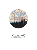 Louisville Map Skyline Posters