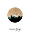 Winnipeg Map Skyline Print