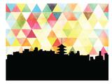 Kyoto Triangle Print