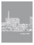 Skyline Las Vegas 2 Posters af Brooke Witt