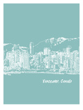 Skyline Vancouver 5 Print by Brooke Witt