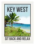 Travel Poster Keywest Prints by Brooke Witt