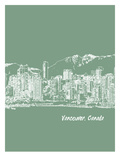 Skyline Vancouver 6 Prints by Brooke Witt