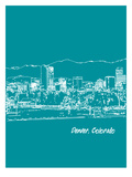 Skyline Denver 4 Prints by Brooke Witt