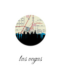 Las Vegas Map Skyline Prints