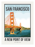 Travel Poster San Francisco Posters par Brooke Witt