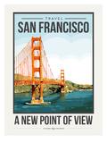 Travel Poster San Francisco Posters af Brooke Witt