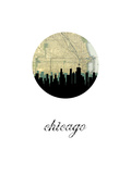 Chicago Map Skyline Art