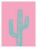 Teal Cactus Posters af Ashlee Rae