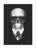Portrait of Skeleton in Suit. Hand Drawn Illustration. Prints by  victoria_novak