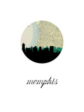 Memphis Map Skyline Prints